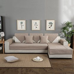 FORCHEER Sofa Mats Cotton Non-slip Sofa Cover Sofa Shield Quilted Sectional Sofa Cushion Slip To ...