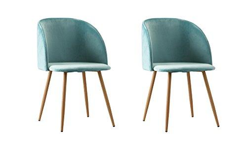 2 Piece Mid Century Velvet Accent Living Room Chair