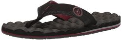 Volcom Men's Recliner Flip Flop Sandal, Port, 9 M US