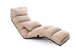 LivingComfort Comfortable Folding Sofa and Lounge Chair, Tan, C1 Sofa Tan