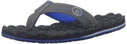 Volcom Men's Recliner Flip Flop Sandal, Blue Combo, 10 M US