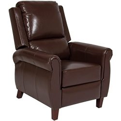 Best Choice Products Leather Recliner Accent Chair Push Back Living Room Home Furniture W/ Leg R ...