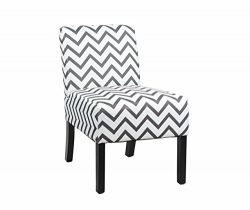 Modern Fabric Upholstery Armless Accent Chair w/ Pine Wood Legs for Kitchen Dining Living Room,  ...
