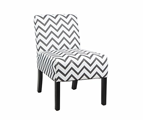 Modern Fabric Upholstery Armless Accent Chair W/ Pine Wood Legs For Kitchen  Dining Living Room