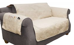 Furniture cover, 100% Waterproof Protector Cover for Love Seat by PETMAKER, Non-Slip, Stain Resi ...