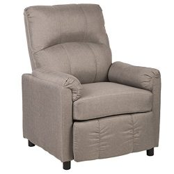 BestMassage Single Arm Recliner Chair Sofa Fabric Reclining Couch Accent Chair