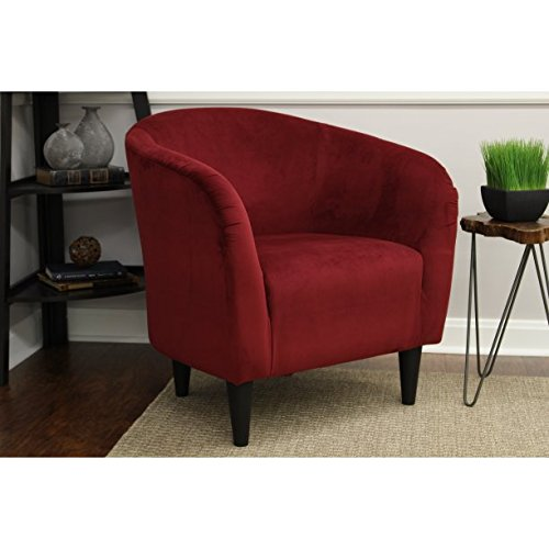 Mainstays Microfiber Tub Accent Chair Berry Red
