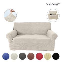 Stretch Slipcovers, Sofa Covers, Furniture Protector with Elastic Bottom, Anti-Slip Foam, 1 Piec ...