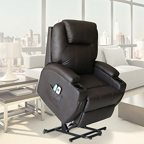 Unionline Pu Leather Power Lift Chairs Recliner For
