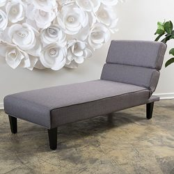 Bernier Lay Flat Adjustable Chaise Lounge (Grey)