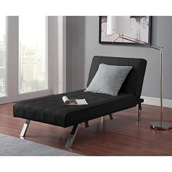 Indoor Chaise Lounge – Convertible Modern Living Room Bedroom Spaces Chair Furniture Home  ...