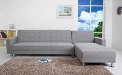 Gold Sparrow Frankfort Convertible Sectional Sofa Bed, Ash