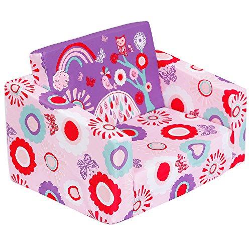 MallBest Kids Sofas Children's Sofa Bed Baby's Upholstered Couch Sleepover chair Fli ...