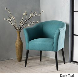 Charmaine Armed Fabric Accent Chair (Dark Teal)
