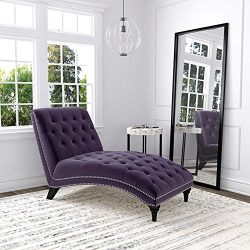 Ursula Fabric Chaise Lounge – Purple