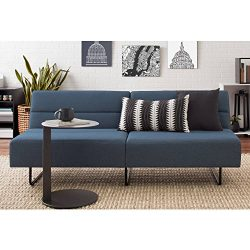 Easy to Assemble, Modern and Comfortable Sleeper with 3 Position Click-clack Technology Sofa Bed ...