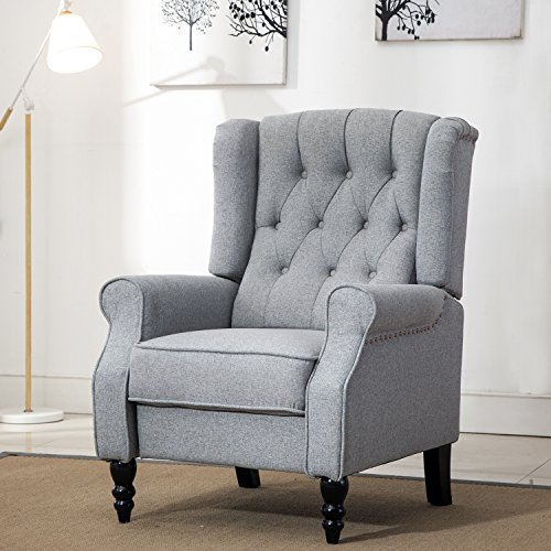 Comhoma Tufted Wingback Recliner Classic Armchair