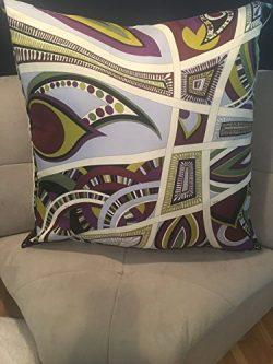 Custom Made Emilio Pucci 30×30 Silk Pillow–blanket size!