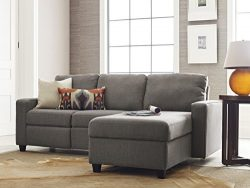 Serta Palisades Reclining Sectional with Right Storage Chaise – Gray