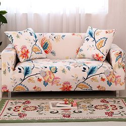 Forcheer Stretch Couch Covers Sofa Slipcovers Fitted Loveseat Cover Seat Furniture Protector (Pr ...