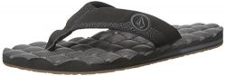 Volcom Men's Recliner Sandal Flip Flop, Black Destructor, 8 C/D US
