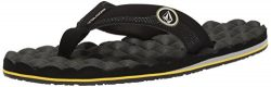 Volcom Men's Recliner Flip Flop Sandal, Sulfur Black, 7 M US