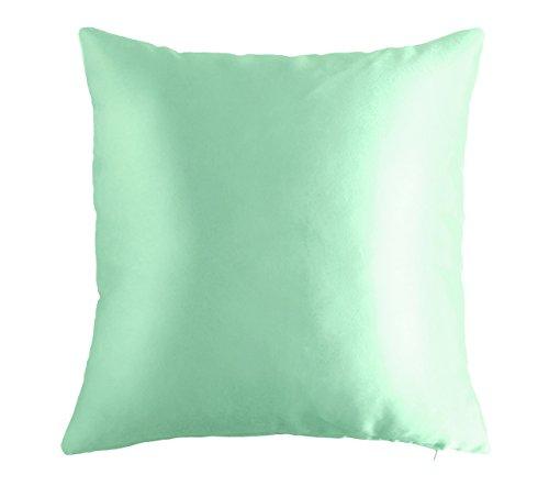 Mint Blue Aqua 18 Quot X 18 Quot Decorative Textured Satin Cushion