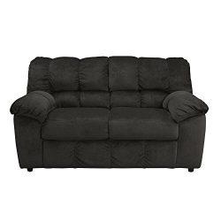Ashley Furniture Signature Design – Julson Loveseat – Contemporary – Ebony