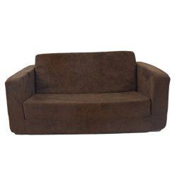 Flip Open Sofa For Kids – Convertible Children Soft Upholstered Futon Bed – Toddler  ...