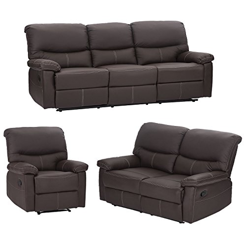 Mr Direct 3PC Motion Sofa Loveseat Recliner Set Living