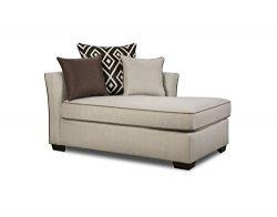 Simmons Upholstery 4202-08 Stewart Linen Chaise, 86″ x 39″ x 65″, Tan
