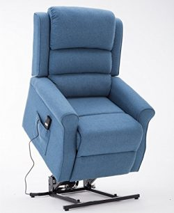 Irene House Power Modern Transitional Wall Hugger Lift Chair Recliners With Soft Linen(Brushed  ...