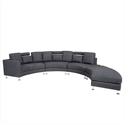 Beliani 11510 Rotunde Round Modern Sectional Upholstered