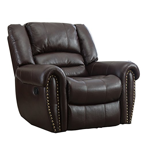 Bonzy Manual Stretched Recliner Chair Leather Cover Living