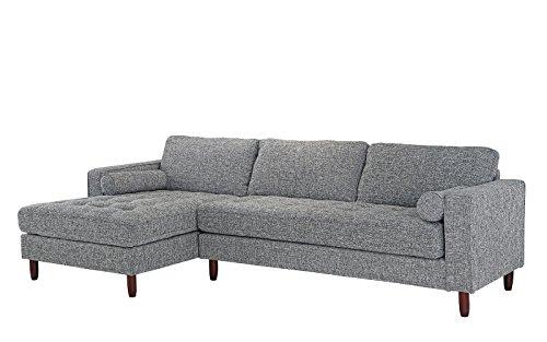 Divano Roma Furniture Mid-Century Modern Tufted Fabric