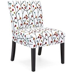 Best Choice Products Upholstered Accent Chair w/ Floral Patterns (Multicolor)