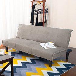 Harper Bright Design Convertible Sofa Bed Futon Sofa Couch Bed (Grey)
