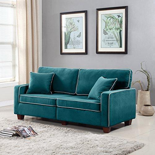 Divano Roma Furniture Collection Modern Two Tone Velvet