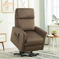 BONZY Lift Chair Power Reclining and Lifting Motion Recliner – Chocolate