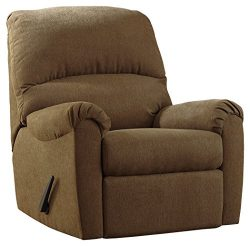 Ashley Furniture Signature Design – Zeth Rocker Recliner – Pull Tab Manual Reclining ...