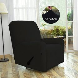 Stretch Recliner Slipcovers, Sofa Covers, 4Pieces Furniture Protector with Elastic Bottom,Straps ...