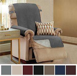 The Original GORILLA GRIP Premium Slipcover Furniture Protector, Cover Features Micro-Suede Top  ...