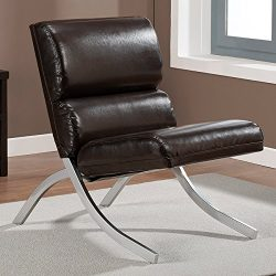 Contemporary/Modern Unique Faux,Bonded Leather Foam Chair (Brown)