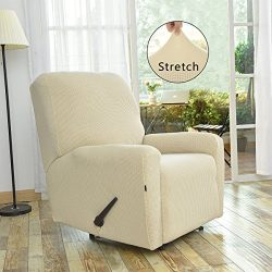 Stretch Recliner Slipcovers, Sofa Covers, 4 Pieces Furniture Protector with Elastic Bottom,Strap ...