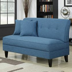 Contemporary Sofa Loveseat – This Upholstered Couch Is Made of Wood and Linen Material &#8 ...