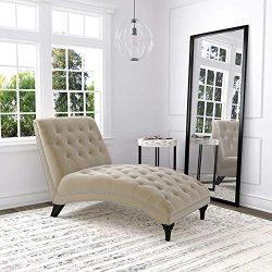 Ursula Fabric Chaise Lounge – Oatmeal