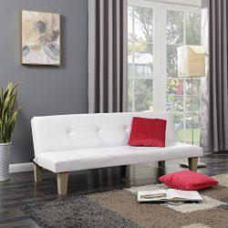 Belleze Convertible Futon Folding Sofa Bed Couch Sleep Adjustable Recliner Lounger w/ (2) Pillow ...