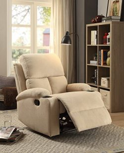 ComfortScape Modern Recliner Loveseat Sofa Chair for Elderly, Beige