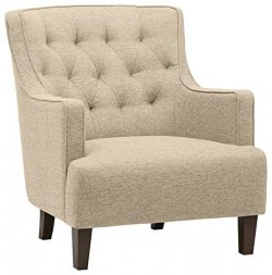 Stone & Beam Decatur Modern Tufted Accent Chair, 32″W, Chair, Oatmeal