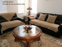 Quilted 35×82″ Peat Bonded or Classic Micro Suede Sectional Sofa Cover Pad